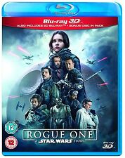 Rogue One A Star Wars Story 3D + 2D Blu-Ray New.