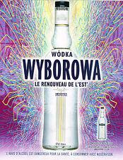 PUBLICITE ADVERTISING  2005   WODKA  WYBOROWA  le renouveau de L'EST
