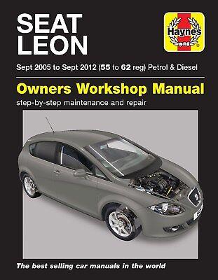 Sept 2012 Haynes Repair Manual 6408 Seat Leon MK2 inc Cupra Cupra ...