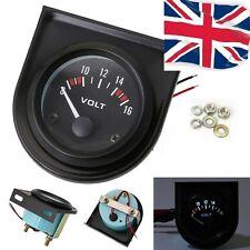 52mm Voltmeter VOLT GAUGE Voltage Meter 12v LED Boat Van Camper Car Classic +POD