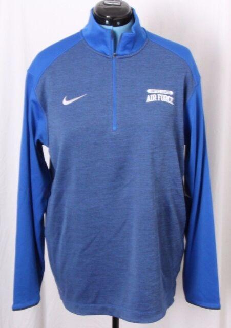 4e51ffabc4cf Nike Dri-fit Coaches 1 2 Zip Top Air Force USAF Shirt Pullover Jacket Men s  L for sale online