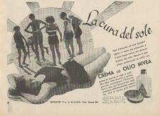 Z1060 Crema NIVEA la cura del sole - Pubblicità d'epoca - 1934 Old advertising