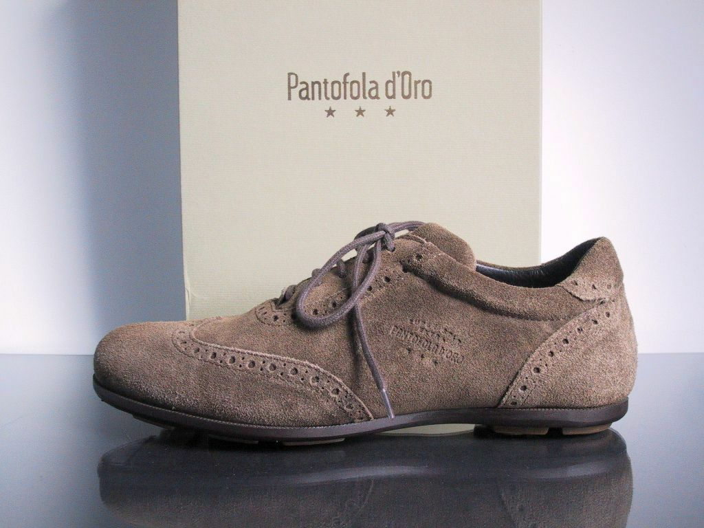 PANTOFOLA D'ORO 37 SUPER STAR EXTRA CLUB SNEAKER HOUSE SUEDE CLASSIC LUXUS SNEAKER CLUB BRAUN 311271