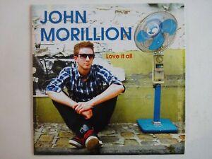 JOHN-MORILLION-LOVE-IT-ALL-13-TITRES-CD-Album-Promo