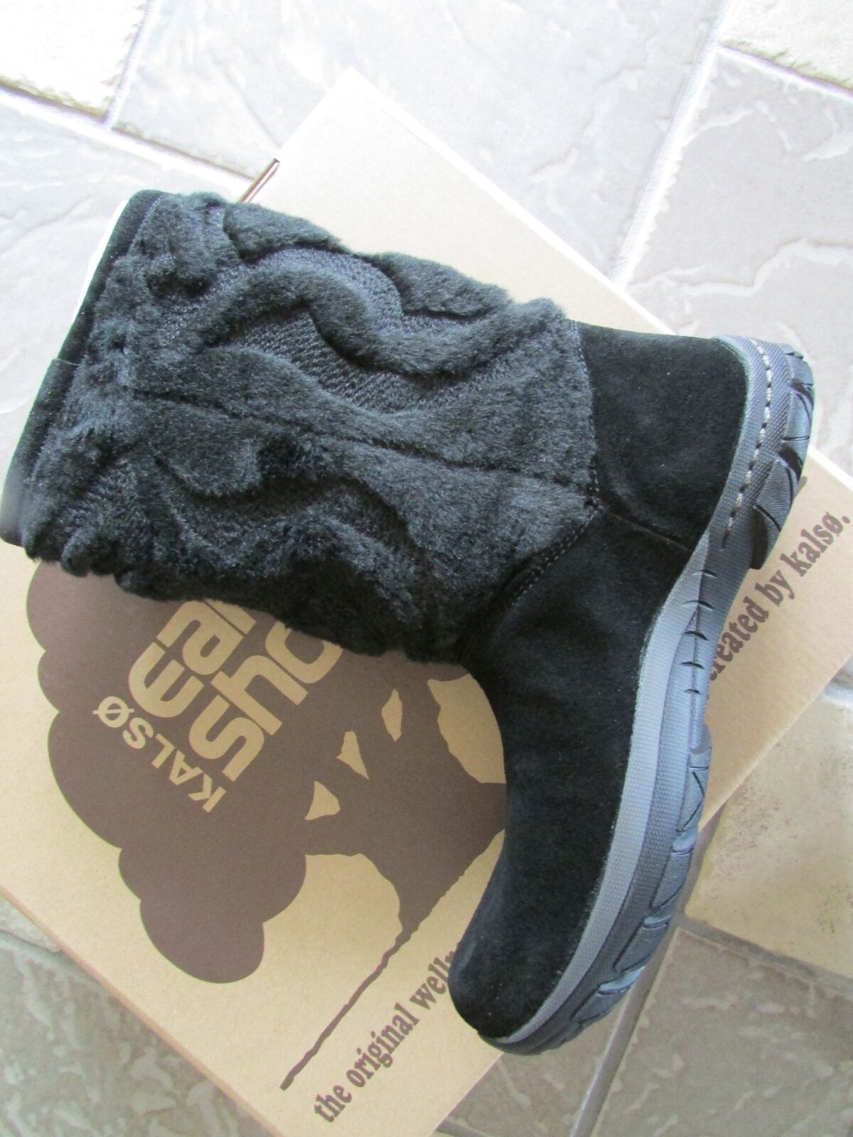 NEW KALSO EARTH SUPERNOVA BLACK SUEDE BOOTS Damenschuhe 6 STYLE: 100594