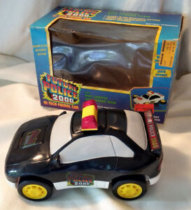 Rare-Leader-Future-Police-2000-Battery-Op-Toy-Patrol-Car-Police-Back-to-the-VTG