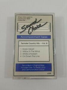 Karaoke - Female Country Hits Vol 8 Cassette 1990 Sound Choice
