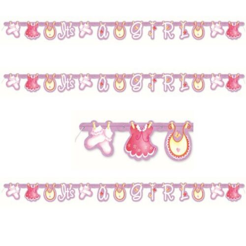 Girl baby shower Decorations Banner PINK new baby arrival party