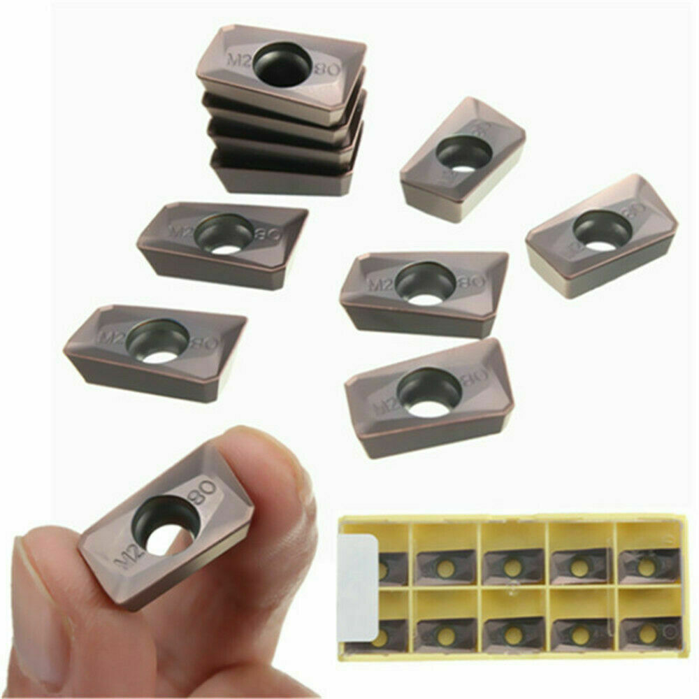10pcs APMT1604PDER M2 VP15TF Carbide Inserts 25R0.8 Cutters For Indexable Millin