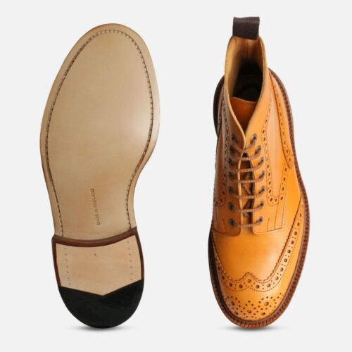 Country Boots Stow Brogue Acorn Trickers qpEUR