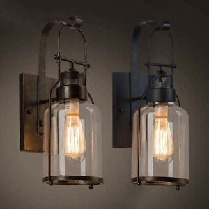 industrial loft lighting. Image Is Loading Industrial-Loft-Rust-Metal-Lantern-Single-Wall-Sconce- Industrial Loft Lighting F