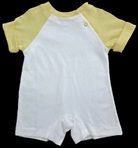 NWT THE CHILDREN/'S PLACE Baby Boys Yellow /& White Romper Size 0-3 Months NEW