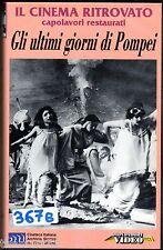 Gli ultimi giorni di Pompei (1913) VHS 1a Ed. RESTAURATO  unica in eBay