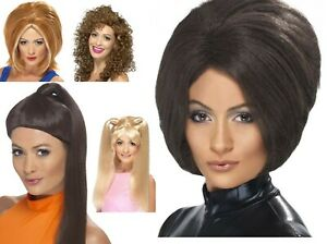 Women-039-s-1990-039-s-Spice-Girls-Band-Member-Fancy-Dress-Wigs-Reunion-Hen-Theme-Fun-Do