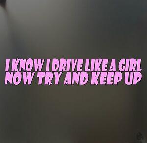 "brush makeup girl lipstick sticker /""H/"" Funny JDM race car window pink decal"