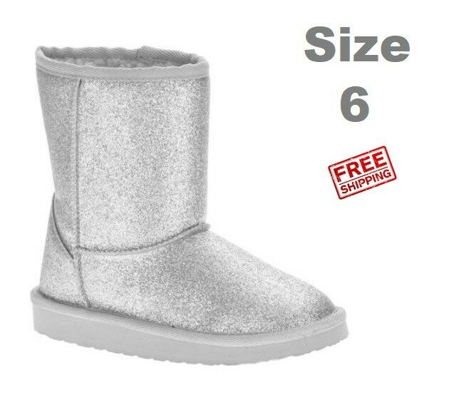 New Faded Glory Women's Sparkle Lug Sole Boot Size 6