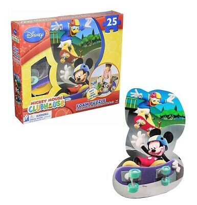 25-Piece Mickey Mouse Clubhouse Puzzle Bundle Foam Floor Puzzle with Bonus Mickey Mouse Mess-Free Coloring Book and Stickers Mickey Mouse Jigsaw Puzzles