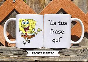 Tazza ceramica spongebob con frase personalizzata ceramic mug ebay