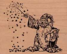 Motivstempel rubber stamp original Visual 1994  VIP  Wizard Zauberer
