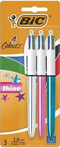 BIC-4-Couleurs-Shine-Stylos-Bille-Retractables-Pointe-Moyenne-1-0-mm-Corps