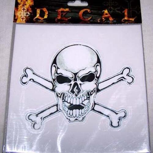 SKULL X BONE CAR WINDOW DECAL skeleton vinyl sticker 06 decals novelty stickers