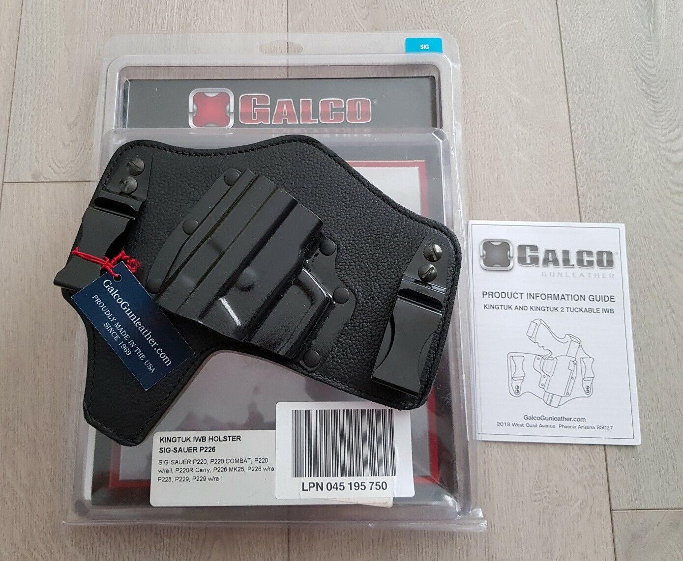 Galco Kingtuk Inside the Waistband Holstet for SIG Sauer P226 - Brand New