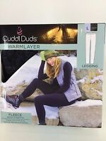Womens Large Cuddl Duds Warm Layer Fleece Legging Tapestry Black/gray 14-16