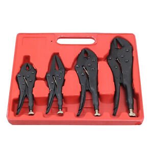 Pack-of-4-X-Heavy-Duty-Grip-Wrench-Set-Vice-Locking-Lock-Pliers-Mole-Grips-Tool