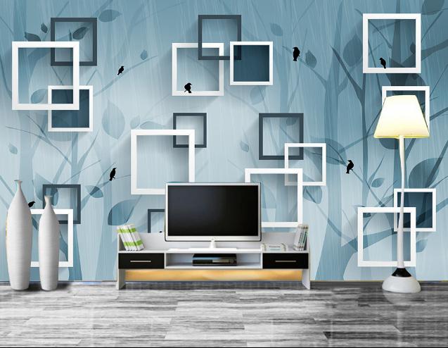 3D árbol Ave 896 Cuadrado muchos Papel de pared pared pared de impresión de Pared Calcomanía Pared AJ Wallpaper CA d622ba