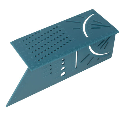 New Wolfcraft 3D Mitre Angle Measuring Square Size Measure Tool W//Gauge Ruler US