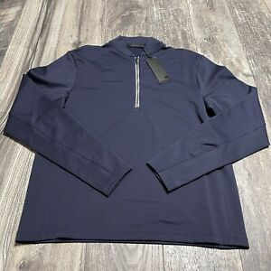 Greyson-Golf-Siasconset-1-4-Zip-Pullover-Mens-Size-Small-Midnight-Blue-NWT