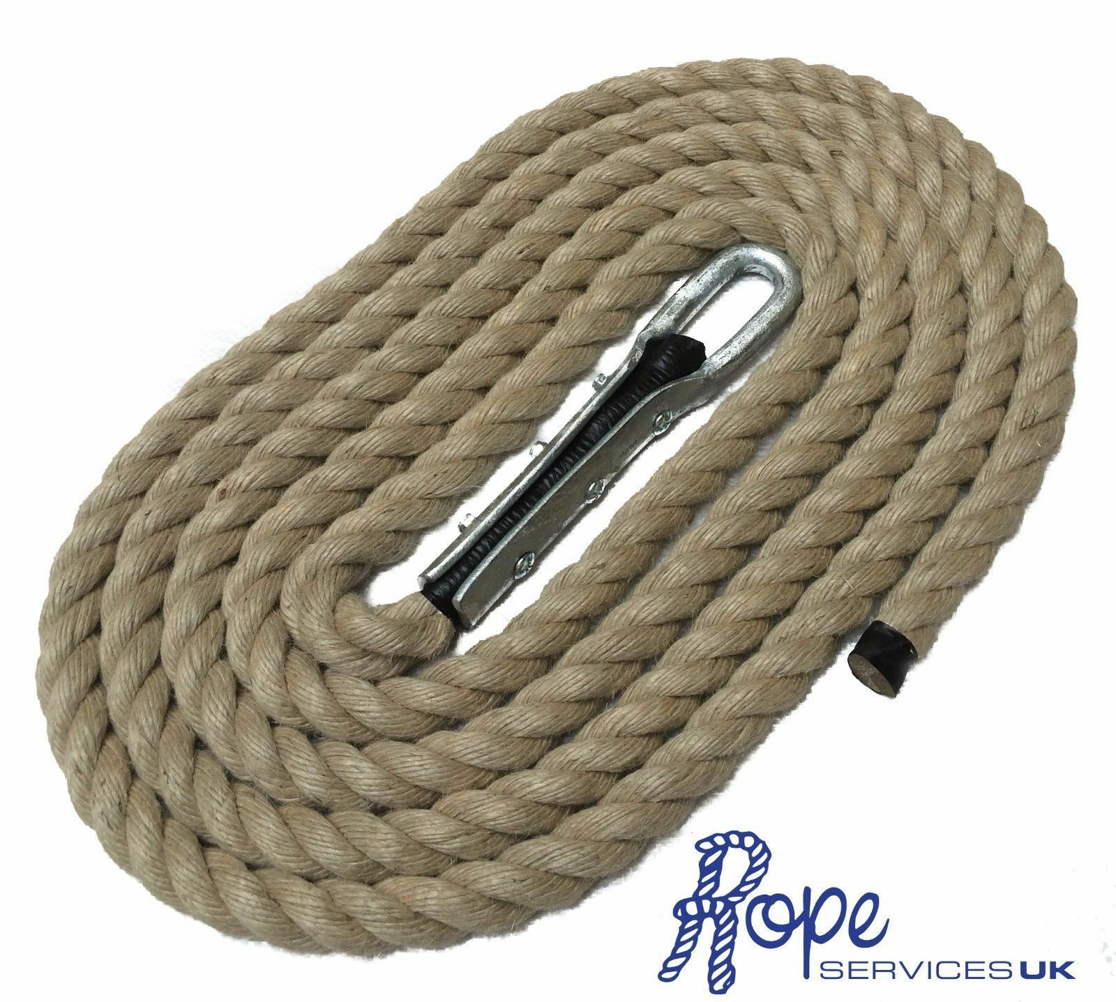 28mm Natural Gym Rope x 5 Metres, Climbing Ropes, Stiefelcamps, Tulip Fitting