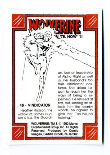 Comic Images 1992 Wolverine From Then /'Til Now II Base Card #48 Vindicator