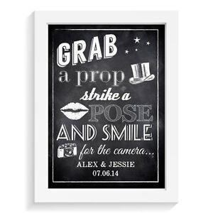 Personalised-wedding-sign-PHOTOBOOTH-GRAB-A-PROP-STRIKE-A-POSE-retro-vintage-ais