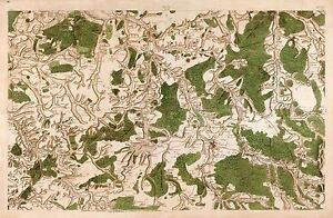 MAP-CASSINI-FRANCE-18TH-CENTURY-TONNERE-BURGUNDY-REPLICA-POSTER-PRINT-PAM0815