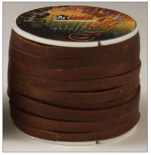 "6mm Tan  Tandy Leather 5076-03  36 Foot 11m Spool Kodiak Lace 1//4/"""
