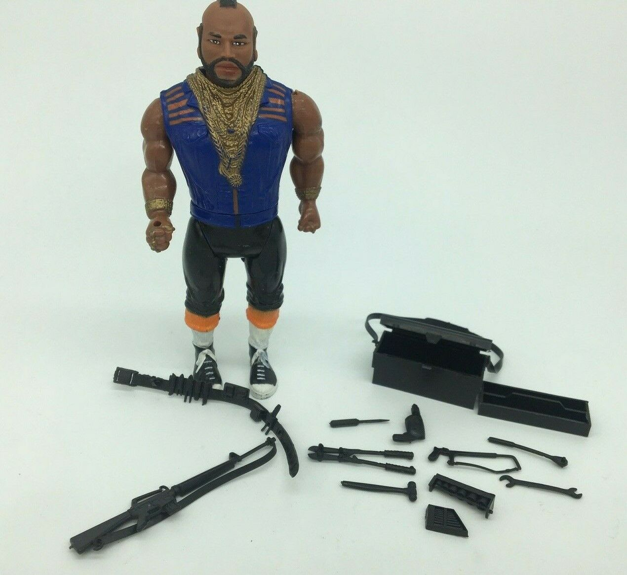 1983 The A-Team Good Guys Action Figure MR T with Weapons BA BARACUS
