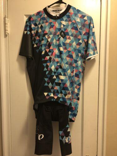 Pearl Izumi Custom Roue /& Pignon Cyclisme Kit Jersey bib Shorts Large rare excellent état utilisé
