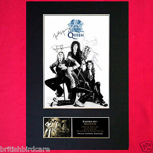 QUEEN-Signed-Autograph-Quality-Mounted-Photo-Repro-A4-Print-327