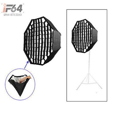 "80cm / 32"" Octagon Umbrella Softbox with Grid Honeycomb For SpeedLight Flash"