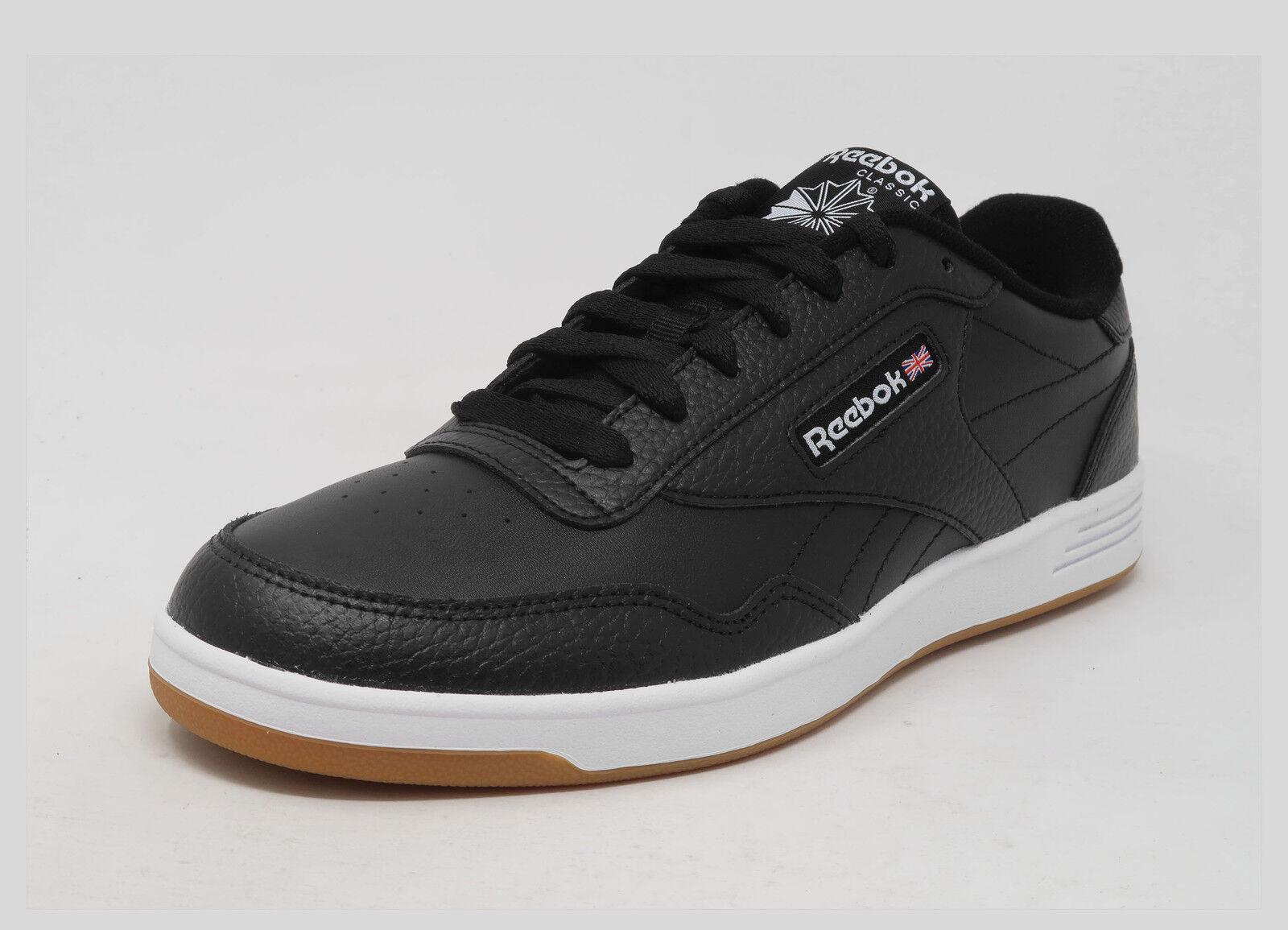 REEBOK Club Memt Memory Tech Goma blancoo Negro Cuero Con Cordones Zapatillas Hombres Zapatos