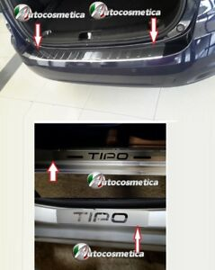 Battivaligia-Protezione-Paraurto-post-cromo-4-battitacco-acciaio-FIAT-Tipo-SW