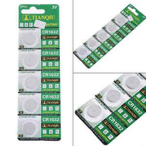 5-Stueck-CR1632-BR1632-ECR1632-3V-Knopfzelle-Batterie-Elektronische-Knopfbatterie