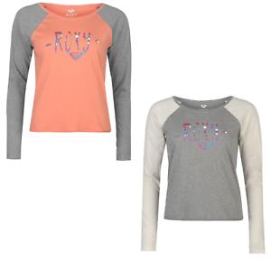 Roxy T-Shirt T shirt Tshirt Langarm Damen Top Jogging Fitness 5206