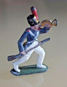 Spielzeug-Antik-Blei-Hohl-Dc-Empire-Buegelhorn-Frankreich-Jahre-30-50
