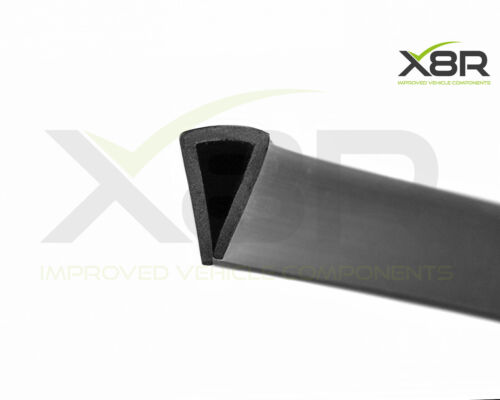 Grande Negro de goma u ajuste del borde Ribete de canal Sello Cuadrado Protección PVC Flex