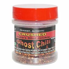 AUTHENTIC CRUSHED INDIAN BHUT JOLOKIA GHOST CHILI PEPPER FLAKES 1/2 oz .5 oz 14g