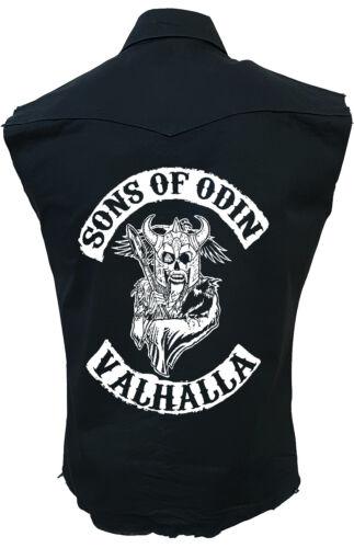 SONS OF ODIN VALHALLA//Worker//Viking//Celtic//Rock//Tribal//Work Shirt//Sleeveless//Top
