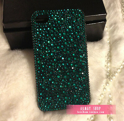 Sparkle Bling crystal Rhinestone for iphone 5s 5c 6s 6 7 plus Samsung case green