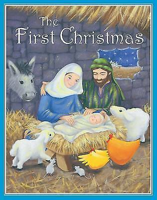 """""""AS NEW"""" Gaby Goldsack, The First Christmas (Bible Sticker Books), Hardcover Boo"""